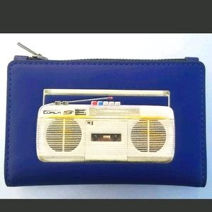 NWT-Coach Slim Bifold Card Wallet w/ 80's Boombox